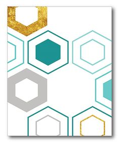 This Abstract Molecules Wrapped Canvas is perfect! #zulilyfinds