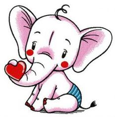 Baby elephant machine embroidery design from African machine embroidery collection feel free to decorate baby bibs with this design. Free Machine Embroidery Designs, Hand Embroidery Patterns, Border Embroidery, Machine Design, African Animals, Baby Elephant, Quilting Designs, Cute Drawings, Coloring Books