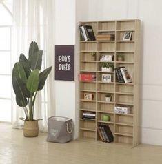 CD DVD Shelving Unit Storage Adjustable Shelf Rack Bluray Video Games Book Oak