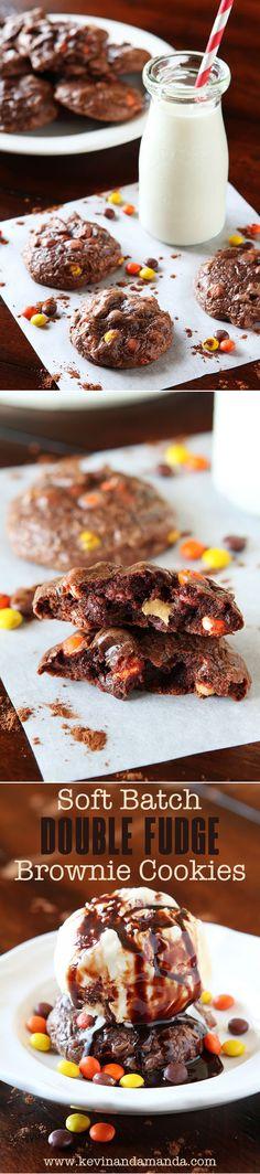 Soft Batch Peanut Butter Double Fudge Brownie Cookies