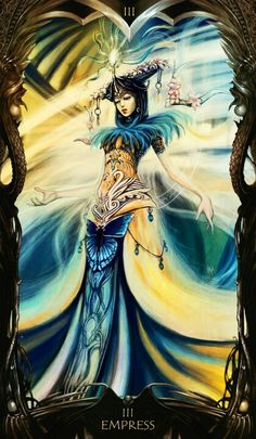 The Empress - This is a time for nurturing, material and domestic comfort, a feeling of abundance, harmony, joy and love.