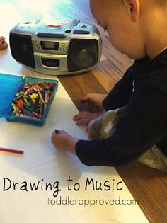 Drawing to music
