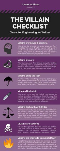 Basics for writing a villain