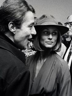 Halston with Lauren Hutton at Richard Avedon's private view, 1975