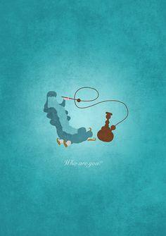 Alice in Wonderland inspired design (Caterpillar).