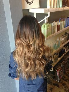 Ombre on Asian hair. Aveda color