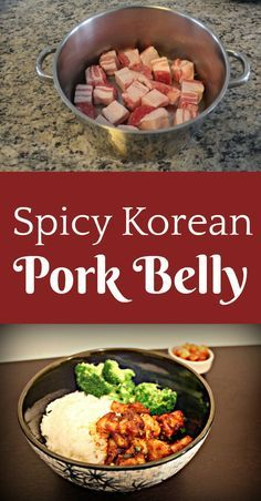 This recipe for Spicy Korean pork knocked my socks off! It burns in all the right ways, and the fatty pork belly will just melt in your mouth! A perfect combination. food This Spicy Korean Pork Belly Will Simply Melt In Your Mouth! Korean Pork Belly, Spicy Korean Pork, Pork Recipe Korean, Korean Chicken, Easy Korean Recipes, Asian Recipes, Hawaiian Recipes, Asian Pork Belly Recipes, Asian Foods