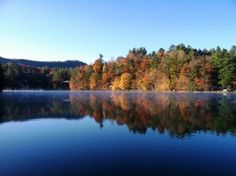 Fairfield Lake, Sapphire, NC~where we went in our honeymoon & hope to return for an anniversary soon