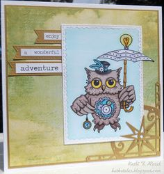 Kat's Tales of Stamping: Steampunk and Owls = Perfect Together! #BrakeforStamps