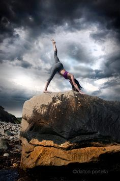 I love this pose. It is such a great back & arm stretch, plus I'm naturally flexible, so it never hurts my legs.