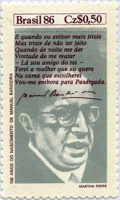 100 AÑOS DEL NACIMIENTO DE MANUEL BANDEIRA, BRASIL 1986