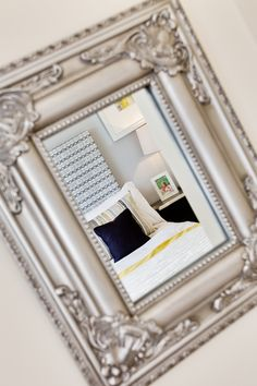 Mirror in the bedroom in The Canterbury at Buckby Meadows in Long Buckby
