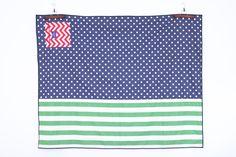 Roll-Up Blanket | Indigo Dot