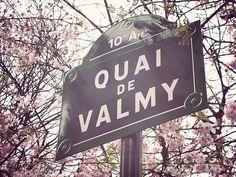 Quai de Valmy in spring