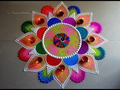 Big, creative and unique rangoli for festivals