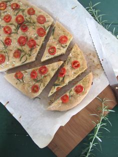 Buckwheat cherry tomato and rosemary focaccia. Can you say yummy!