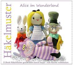 Alice in Wonderland Amigurumi crochet pattern set $ Pattern