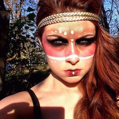 Colors of the Wind Couture #halloween #Pocahontas #makeup