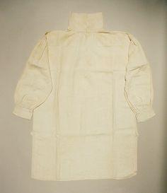 Metropolitan Museum: camisa de EEUU de lino de 1812 (Inventario: C.I.58.20)