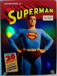 George Reeves as Superman,he Supposedly shot himself but no gun residue was found on either of his hands .the case is still.unsolved then again he was Superman ,maybe he just flicked the bullet into his skull ! Mole Man, The Mole, Olivia De Havilland, George Reeves, Steve Reeves, Mejores Series Tv, Adventures Of Superman, Lynda Carter, Little Bit