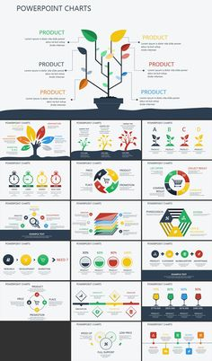 progress movement powerpoint charts graphic design infografia