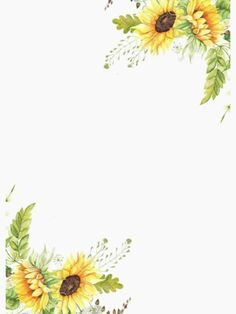 Girassol Watercolor Cards, Watercolor Illustration, Wallpaper Backgrounds, Iphone Wallpaper, Sunflower Party, Sunflowers And Daisies, Sunflower Wallpaper, Watercolor Sunflower, Borders And Frames