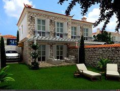 Modern taş evler (6) - Doğal taşlar, doğal taş evler ve doğal taş ocakları