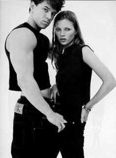 Mark Wahlberg and Kate Moss #CalvinKlein #90s #fashion #DoYouRemember