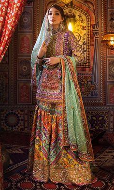 Pakistani Mehndi Dress, Bridal Mehndi Dresses, Nikkah Dress, Pakistani Bridal Dresses, Pakistani Dress Design, Bridal Outfits, Pakistani Couture, Pakistani Gharara, Shadi Dresses