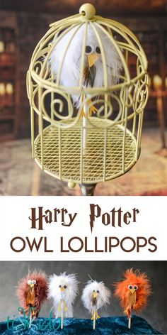Tutorial for turning lollipops into Harry Potter inspired owl familiars. Great for a Harry Potter birthday party!
