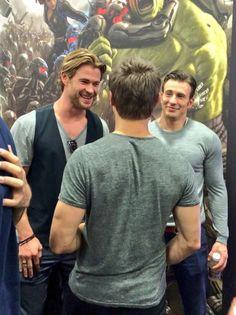 Chris Evans, Chris Hemsworth, Jeremy Renner - SDCC '14