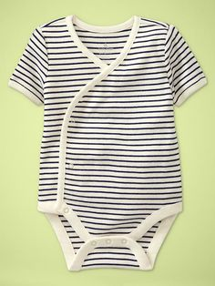 This was seriously my favorite type of onesie when we had a newborn in the house! So much easier to change in the middle of the night: Gap Favorite v-neck bodysuit