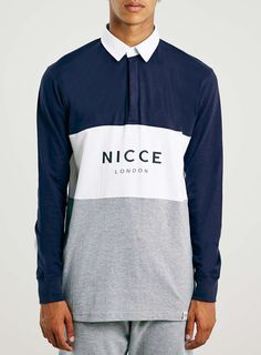 Nicce Triple Panel Rugby Shirt