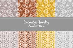 A beautiful set of seamless pattern is all you need. Free Geometric Seamless Pattern is coming with 6 different color of jewelry-like shapes