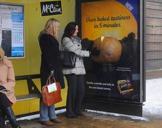 McCain's multi-sensory bus shelter, with smell (and warmth) of baked potato