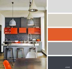 Italian Orange Color Kitchen Cabinet Design Id501 Modern Italian