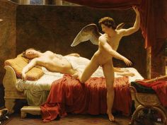 Cupid and Psyche. 1817. Francois Edouard Picot. French. 1786-1868. oil /canvas. http://hadrian6.tumblr.com