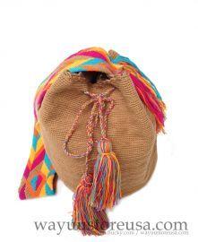 Wayuu Bags ~ Authentic Wayuu Mochila Bags Crossbody 11 in. H x 10 in. W, strap drop 18 in.