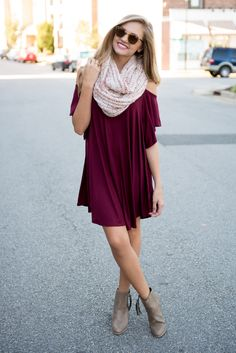 #swoonboutique Fall Winter Outfits, Autumn Winter Fashion, Fall Fashion, Burgundy Dress, Cute Outfits, Stylish Outfits, College Outfits, Pretty Dresses, Dress To Impress