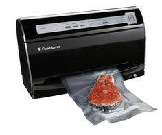 The Food Saver V3460 Vacuum Sealer is a hands free, vacuum sealing and marinating dynamo which comes in a space saving, vertical design. This device helps in protecting and preserving delicate, moist and dry foods for a long time. The V3440 sealer features a built in roll holder, a bag opener, a cutter