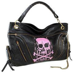 Punk Rock Gothic Alternative Tattoo Monster purse handbag satchel ($53) ❤ liked on Polyvore