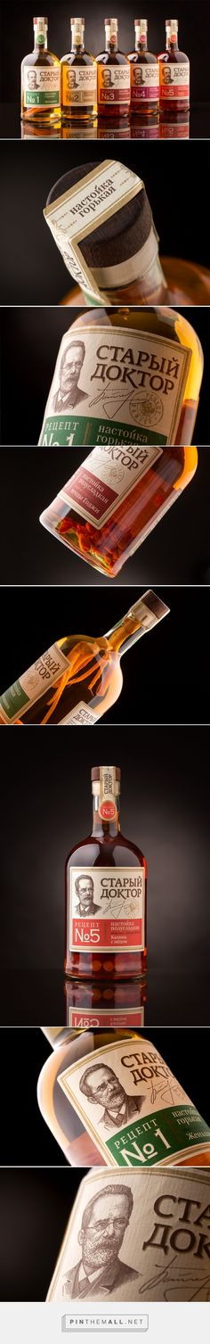 Tinctures Old Doctor spirits label designed by Panfilov&Yushko - http://www.packagingoftheworld.com/2016/02/tinctures-old-doctor.html