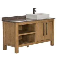 Coos Bay Sink Console - love this - wonder if I could get two, and if one was flipped so that both sinks were closer together and the countertop was further to the side