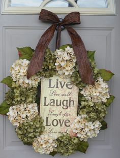 Spring Hydrangeas Front Door Wreaths Traditional Wreaths by bndd, $110.00