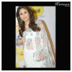#Kareena in a White saree