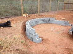 Stone Veneer Fire Pit Patio : 11 Steps (with Pictures) - Instructables Best Picture For sunken Firepit For Your Taste You are looking for something, and it is going to tell you exactly what you are lo Fire Pit Seating, Fire Pit Area, Diy Fire Pit, Fire Pit Backyard, Ponds Backyard, Backyard Patio, Outside Fire Pits, Cool Fire Pits, Sloped Yard
