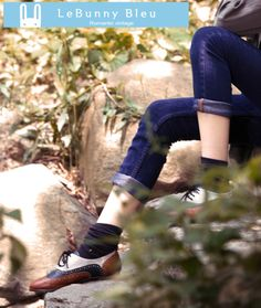 Navy Elvin Oxfords Shoes