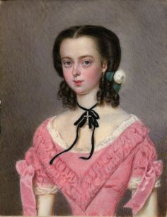 Unknown artist of girl in pink dress