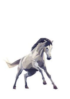 Horse Geometric Minimal Animal Print