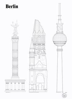 Berlin Landmarks via theposterclub.com